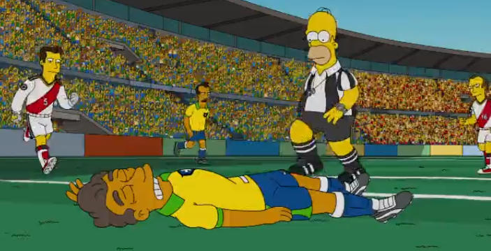Did Homer Simpson prophesize Neymars injury v Colombia? [Video]